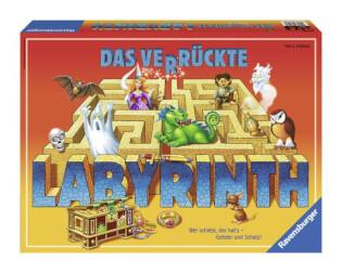 Schachtel Vorderseite - nominiert zum Spiel des Jahres 1986- Das verrückte Labyrinth