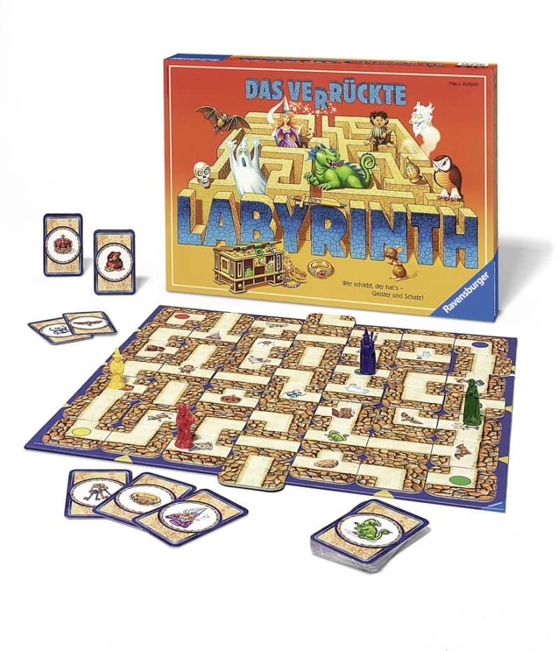 Schachtel und Spielmaterial- Das verrückte Labyrinth