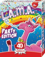 Schachtel Vorderseite, rechte Seite - L.A.M.A Party Edition