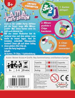Schachtel Rückseite- L.A.M.A Party Edition