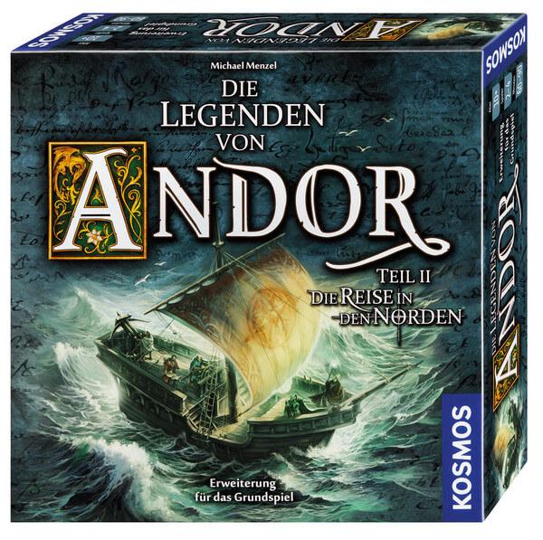 Schachtel Vorderseite, rechte Seite- Die Legenden von Andor: Die Reise in den Norden