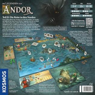 Schachtel Rückseite- Die Legenden von Andor: Die Reise in den Norden