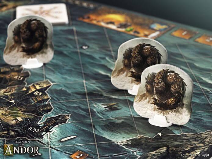 Spielmaterial- Die Legenden von Andor: Die Reise in den Norden
