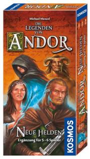 Schachtel Vorderseite- Die Legenden von Andor: Neue Helden - Erweiterung für 5 - 6 Spieler