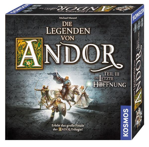 Schachtel Vorderseite, rechte Seite- Die Legenden von Andor – Teil III: Die letzte Hoffnung
