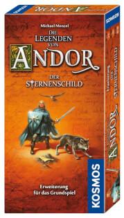 Schachtel Vorderseite, rechte Seite- Die Legenden von Andor: Der Sternenschild