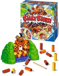 Spielmaterial und Spielschachtel- Billy Biber