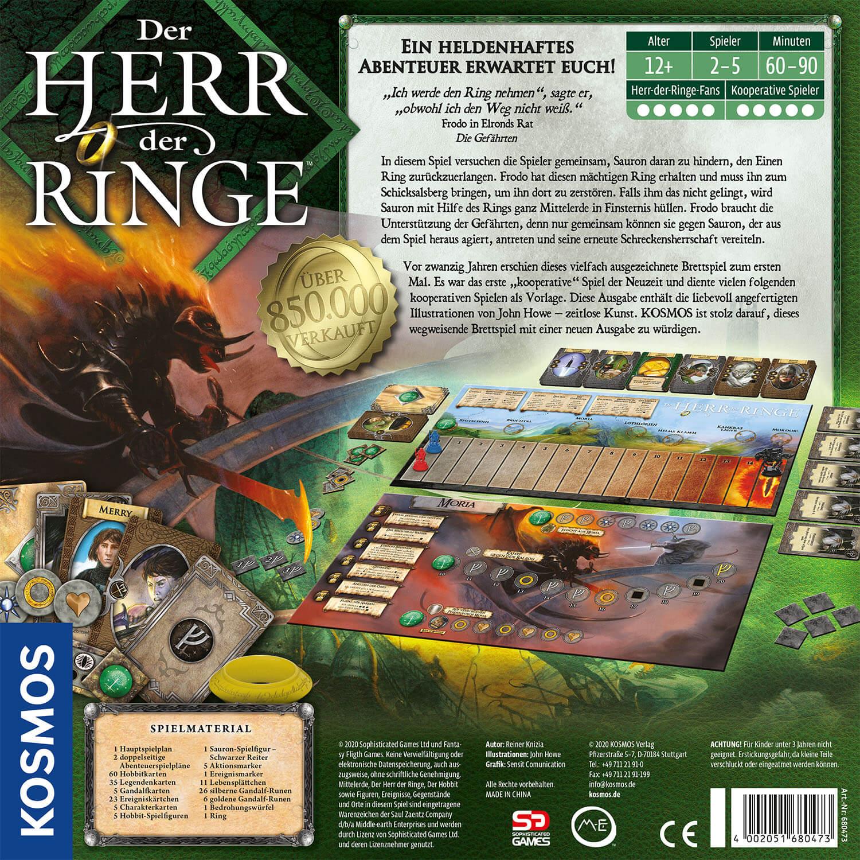 Schachtel Rückseite- Der Herr der Ringe – Jubiläumsedition