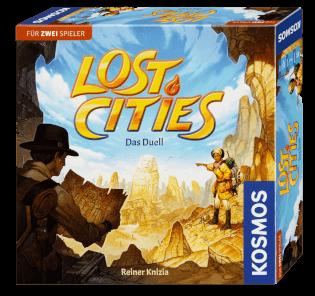 Schachtel Vorderseite- Lost Cities - Das Duell