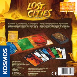 Schachtel Rückseite- Lost Cities - Das Duell