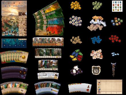 Spielmaterial - nominiert zum Kennerspiel des Jahres 2021- Die verlorenen Ruinen von Arnak
