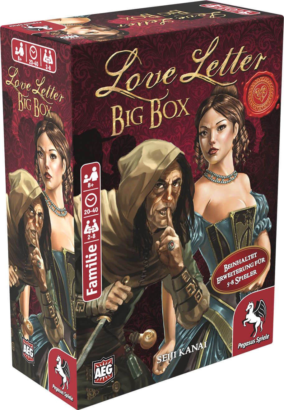 Schachtel Vorderseite, linke Seite- Love Letter - Big Box