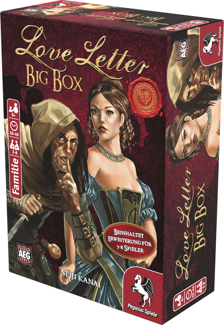 Schachtel Vorderseite, rechte Seite- Love Letter - Big Box