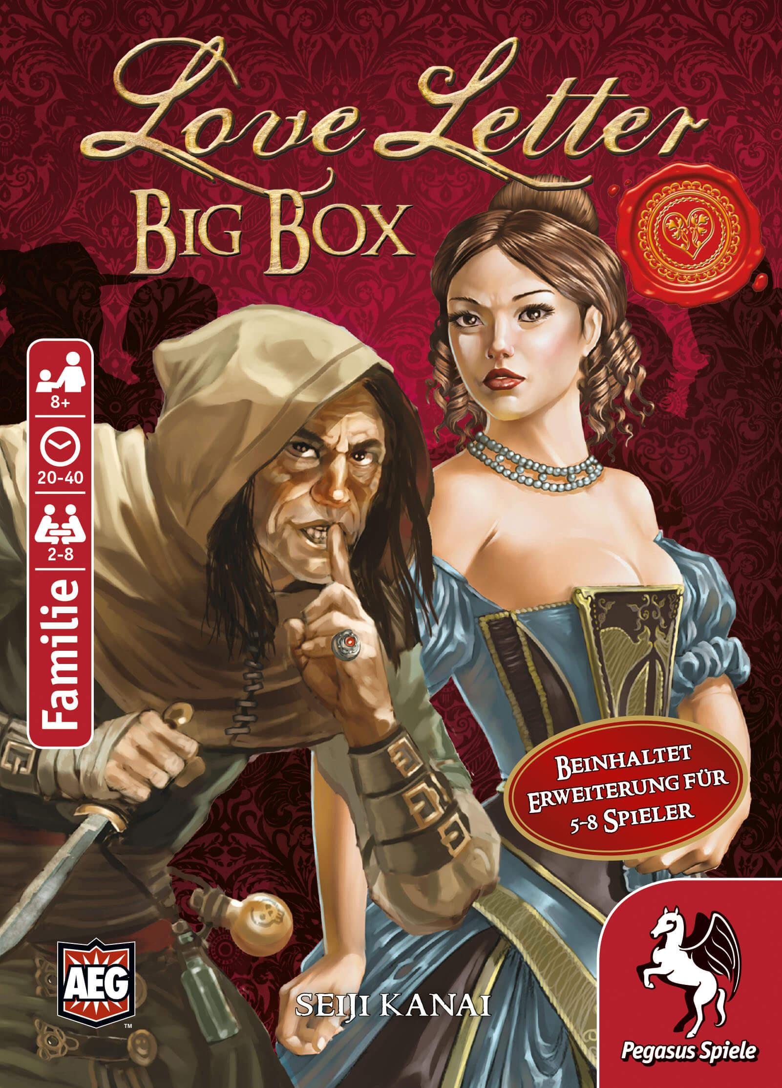 Schachtel Vorderseite- Love Letter - Big Box