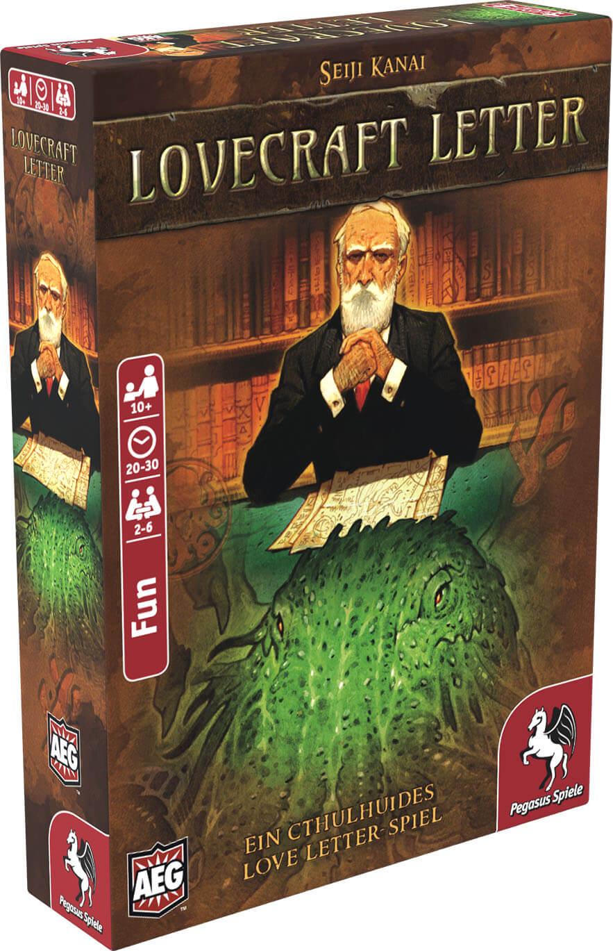 Schachtel Vorderseite, linke Seite- Lovecraft Letter