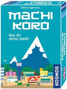 Schachtel Vorderseite - nominiert zum Spiel des Jahres 2015- Machi Koro