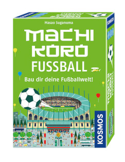 Schachtel Vorderseite, rechte Seite- Machi Koro: Fussball