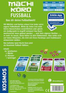 Schachtel Rückseite- Machi Koro: Fussball