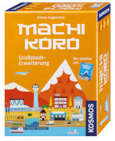 Schachtel Vorderseite, rechte Seite - Machi Koro - Grossstadt-Erweiterung