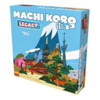 Schachtel Vorderseite - Legacy-Variante des Erfolgspiels - Machi Koro Legacy