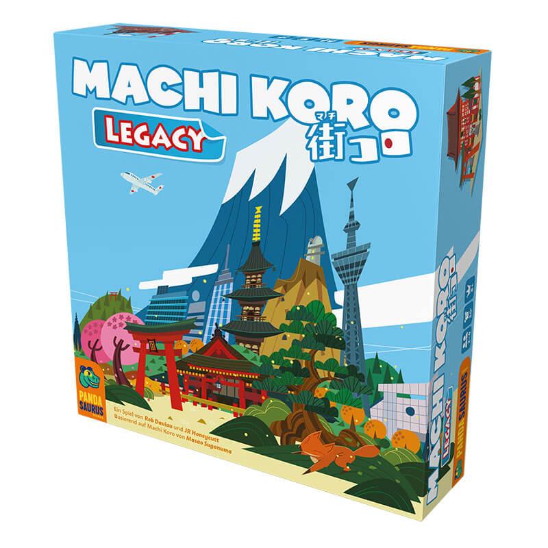 Schachtel Vorderseite - Legacy-Variante des Erfolgspiels- Machi Koro Legacy