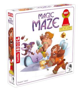 Schachtel Vorderseite, linke Seite- Magic Maze