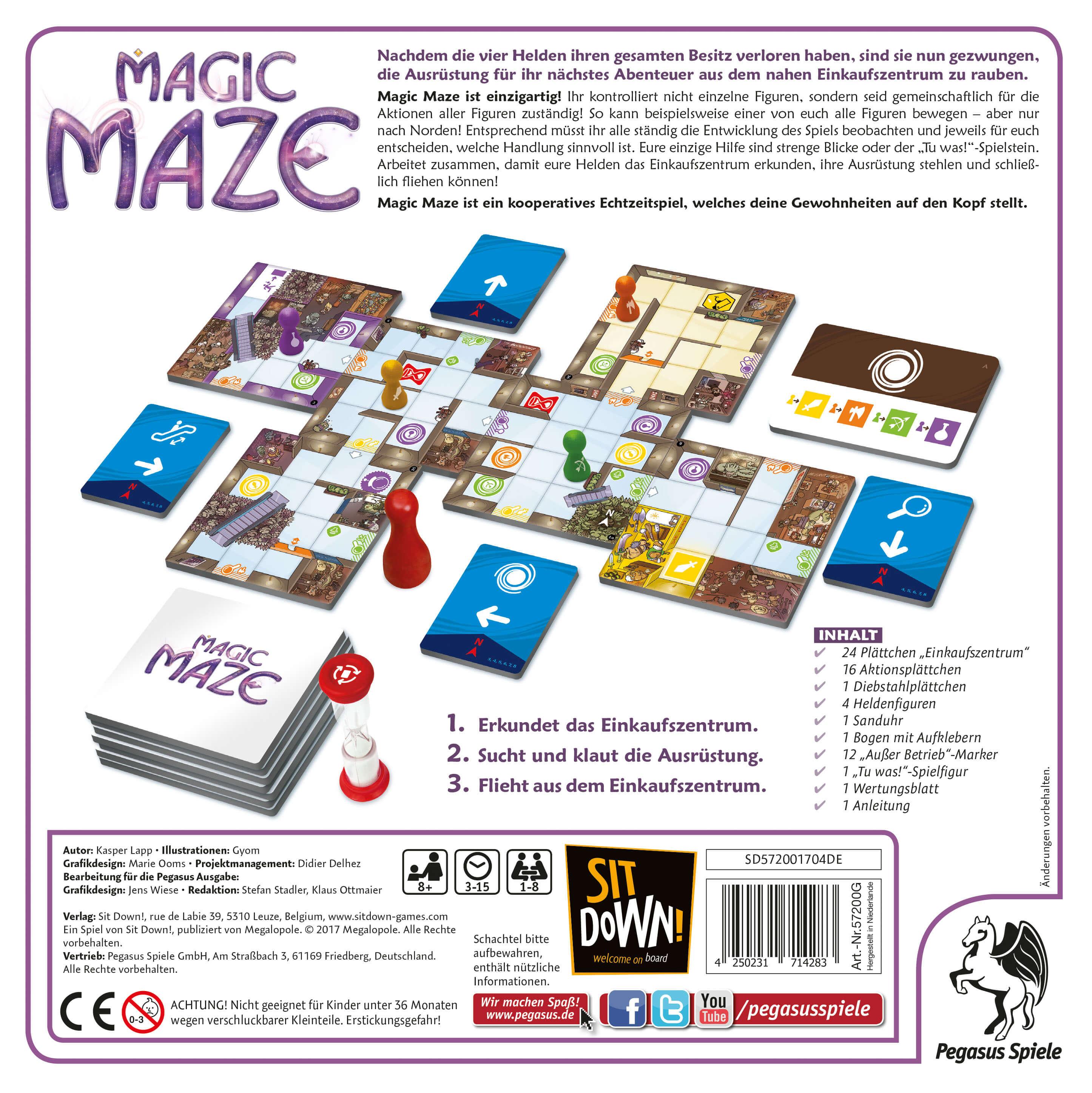 Rückseite Schachtel- Magic Maze