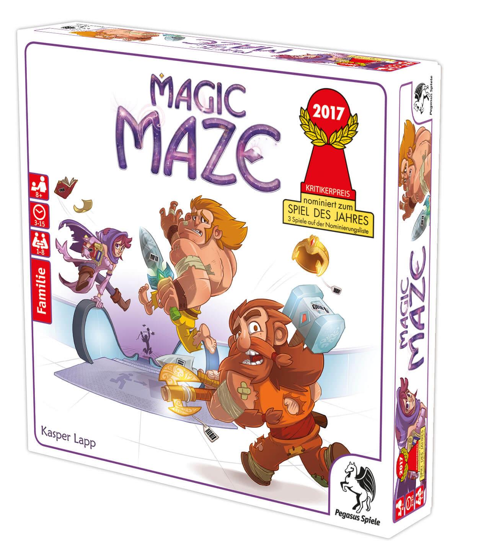 Schachtel Vorderseite, rechte Seite- Magic Maze