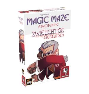 Schachtel Vorderseite, linke Seite- Magic Maze: Zwielichtige Gestalten