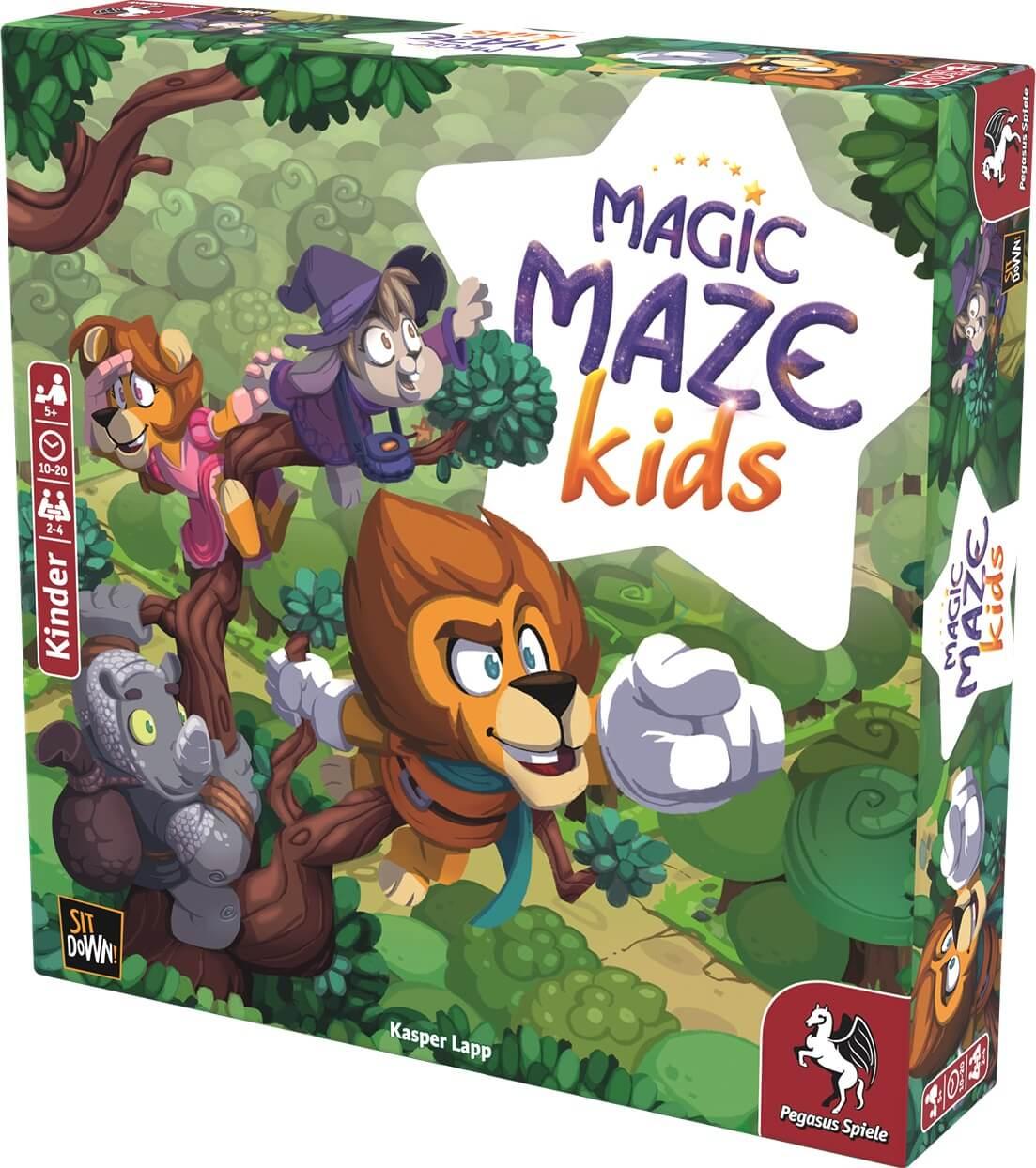 Schachtel Vorderseite rechte Seite - Magic Maze: Kids