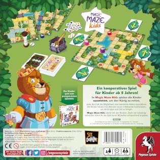 Schachtel Rückseite- Magic Maze Kids