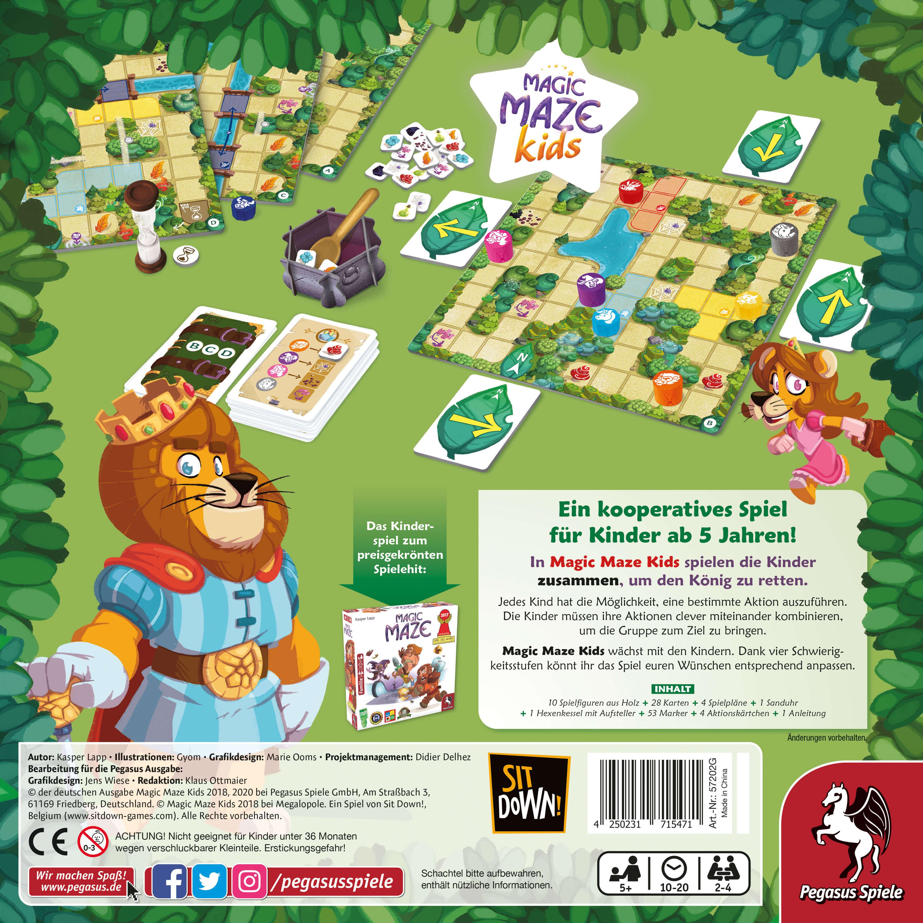 Schachtel Rückseite- Magic Maze: Kids