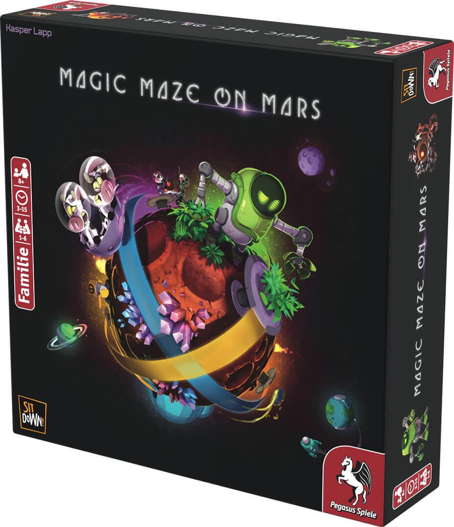 Schachtel Vorderseite, rechte Seite- Magic Maze on Mars