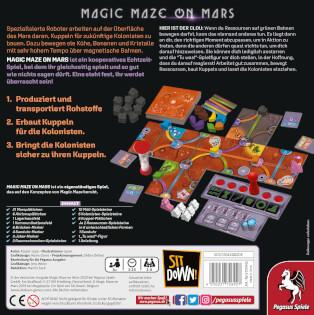 Schachtel Rückseite- Magic Maze on Mars