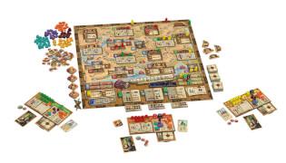 Spielplan mit Spielertableaus - Fortsetzung des Klassikers- Marco Polo II - Im Auftrag des Khan