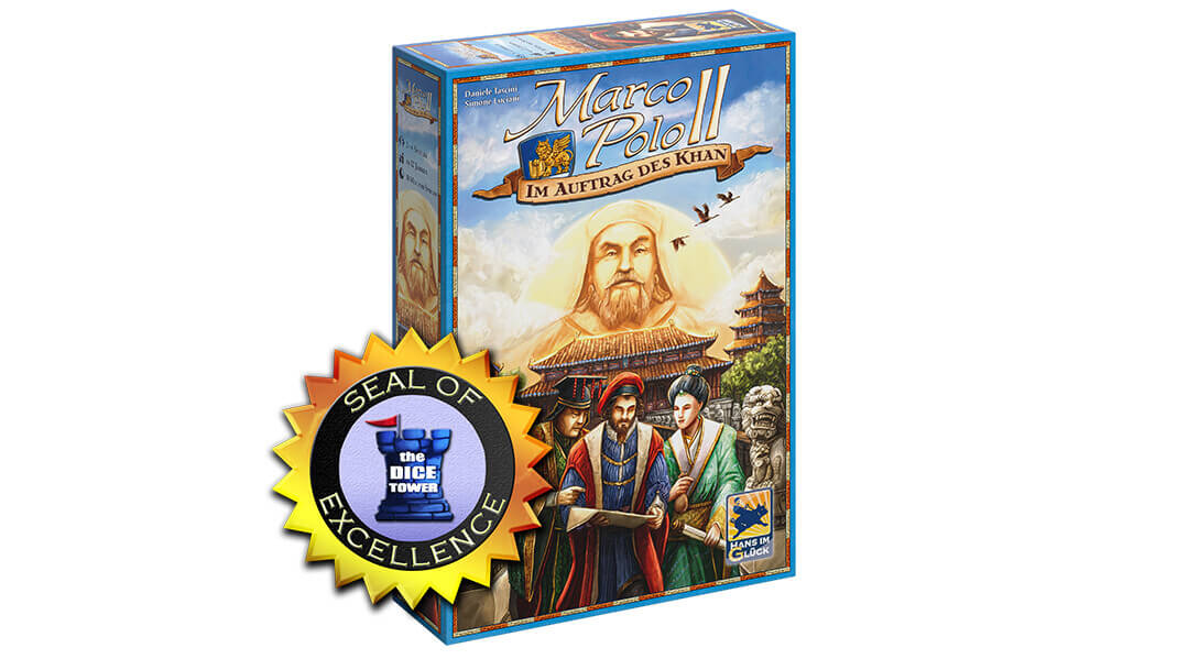 Dice Tower Seal of Excellence - Fortsetzung des Klassikers- Marco Polo II - Im Auftrag des Khan