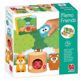 Schachtel Vorderseite - empfohlen zum Kinderspiel des Jahres 2021- Memo Friends