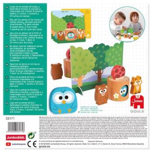 Schachtel Rückseite - empfohlen zum Kinderspiel des Jahres 2021- Memo Friends