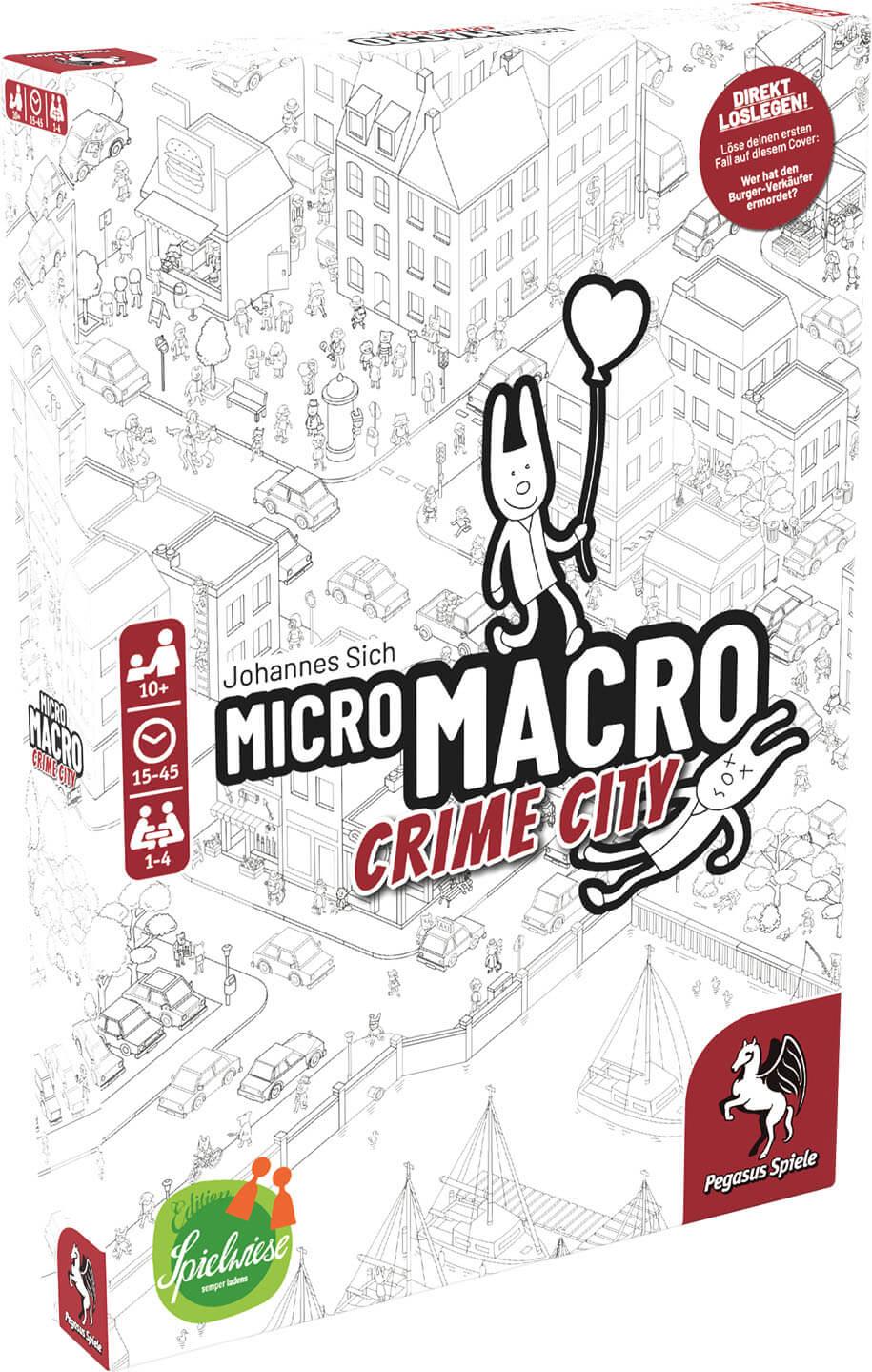 Schachtel Vorderseite, linke Seite- MicroMacro: Crime City