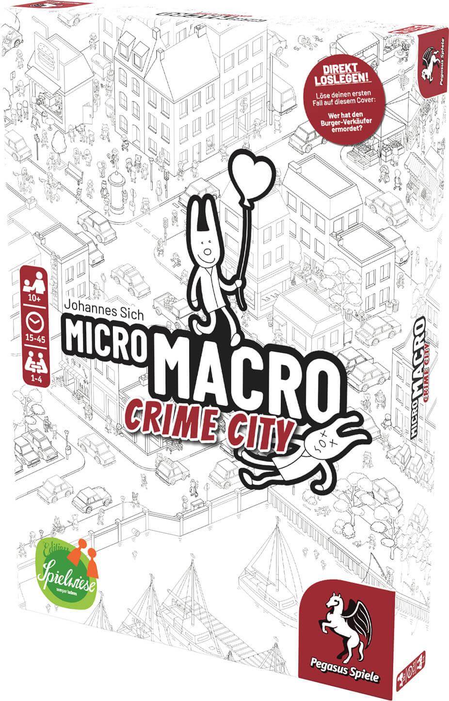 Schachtel Vorderseite, rechte Seite- MicroMacro: Crime City