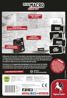 Schachtel Rückseite- MicroMacro: Crime City