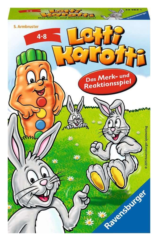 Schachtel Vorderseite- Lotti Karotti - Das Merk- und Reaktionsspiel