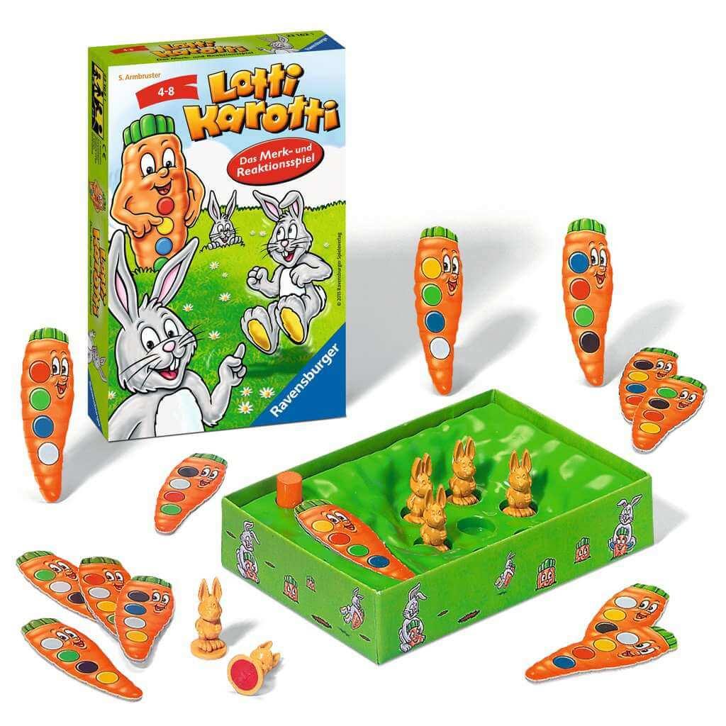 Schachtel mit Spielmaterial- Lotti Karotti - Das Merk- und Reaktionsspiel