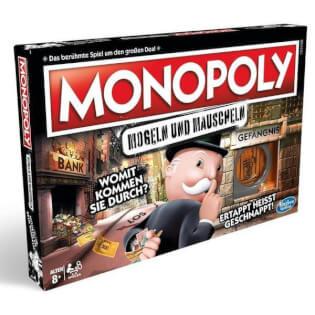 Schachtel Vorderseite- Monopoly - Mogeln und Mauscheln