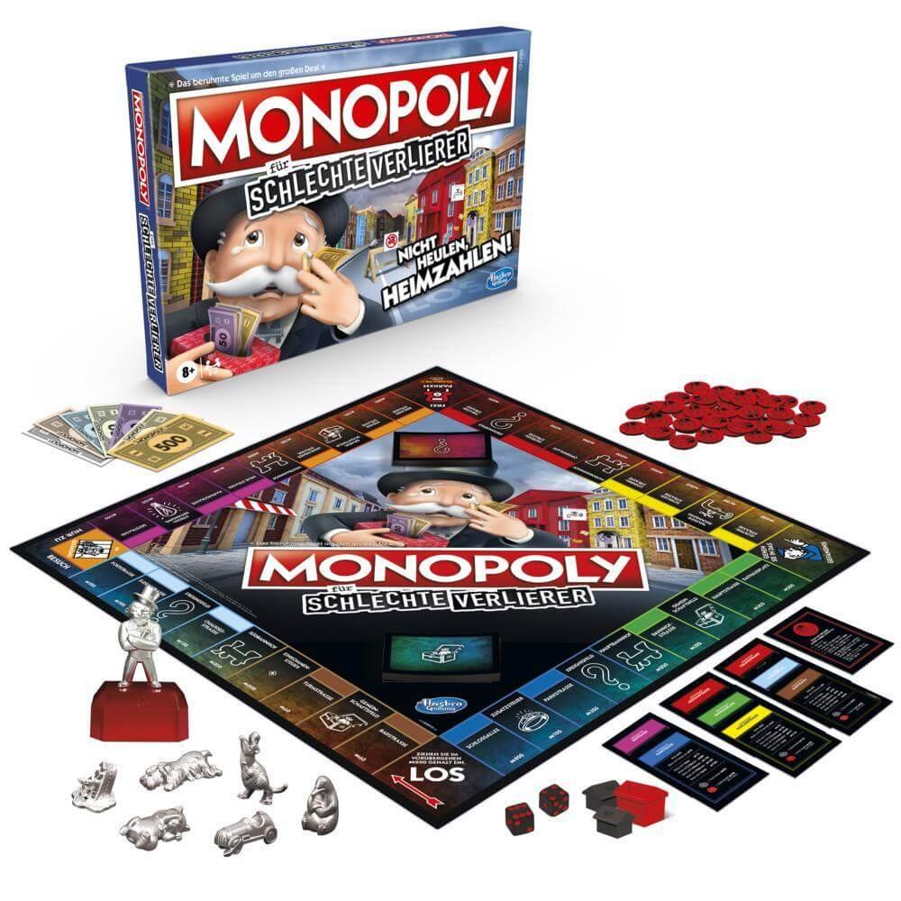 Spielmaterial - Schachtel Vorderseite- Monopoli per i cattivi perdenti