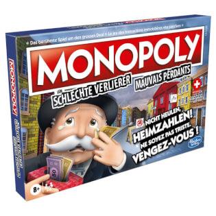 Schachtel Vorderseite, linke Seite- Un monopole pour les mauvais perdants