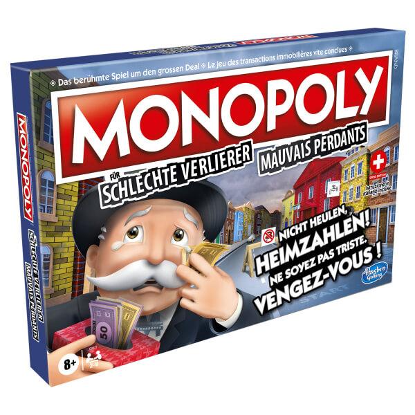 Schachtel Vorderseite, linke Seite- Monopoli per i cattivi perdenti