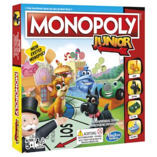 Schachtel Vorderseite, linke Seite- Monopoly Junior
