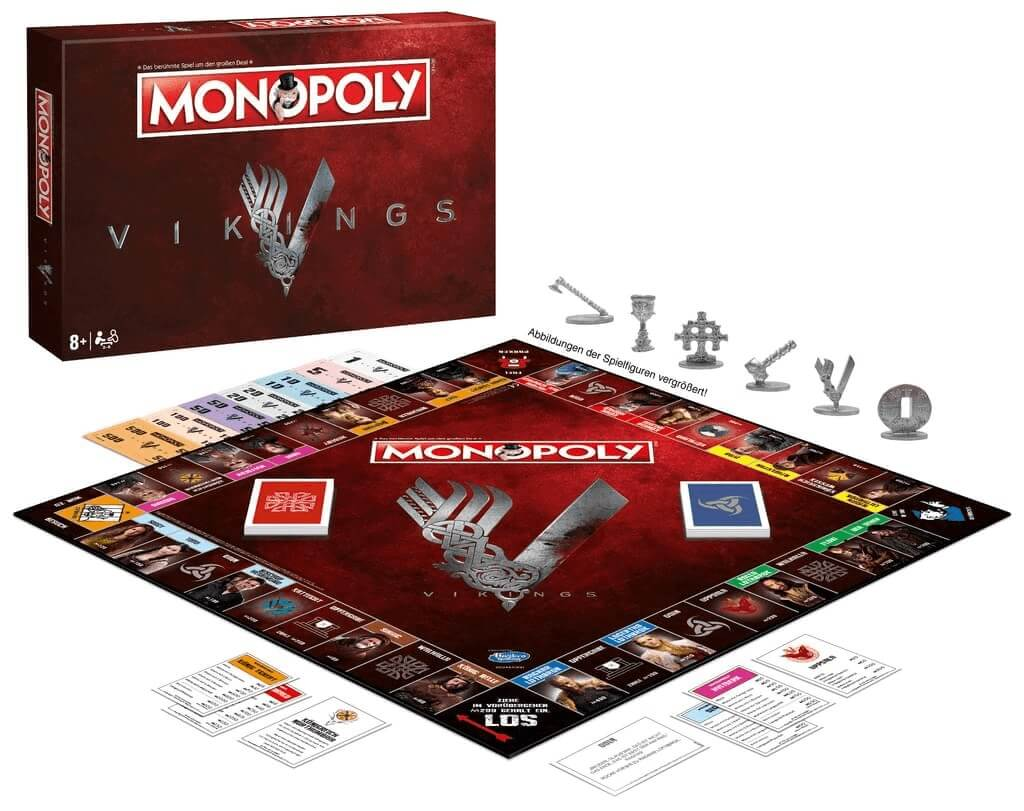 Schachtel Vorderseite - Spielmaterial- Monopoly - Vikings