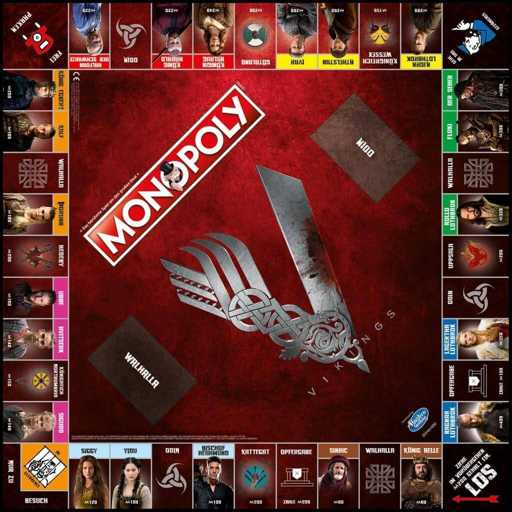 Spielplan- Monopoly - Vikings